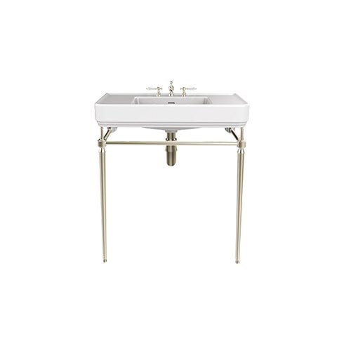 Heritage Bathrooms Abingdon Wynwood 800mm Wash Stand Vintage Gold