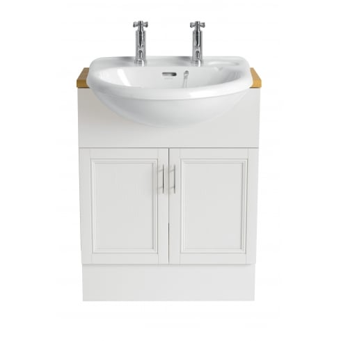 Heritage Bathrooms Belmonte - Medium Semi-Recessed Basin