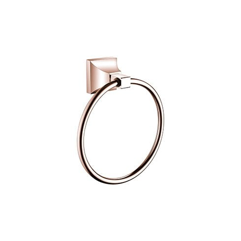 Heritage Bathrooms Chancery Towel Ring Rose Gold