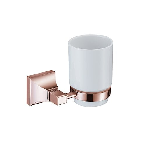 Heritage Bathrooms Chancery Tumbler & Holder Rose Gold