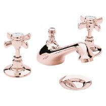 Dawlish 3TH Basin Mixer Rose Gold