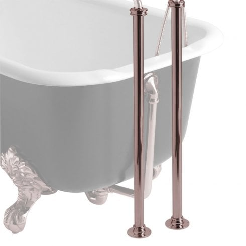 Heritage Bathrooms Stand Pipes Rose Gold