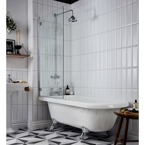 Heritage Bathrooms Tilbury Corner Bath LEFT HAND