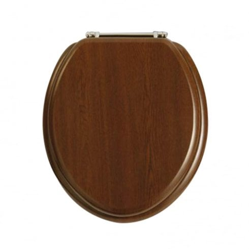 Heritage Bathrooms Walnut WC Seat