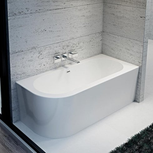 Iconic Como Freestanding Offset Corner Bath - 1700 x 750mm