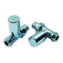 Radiator Valve Straight 15mm (Pair)