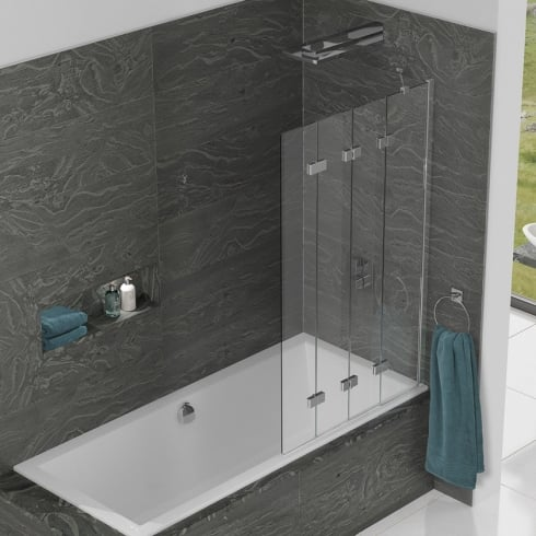 Kudos Inspire - Four Panel In-Fold Bathscreen 1500mm x 950mm