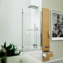 Inspire - L-Shaped Bathscreen 1500mm x 809mm