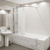 Inspire - Over-Bath Shower Panel 1500mm x 350mm