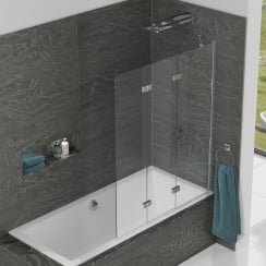 Inspire - Three Panel In-Fold Bathscreen 1500mm x 1250mm