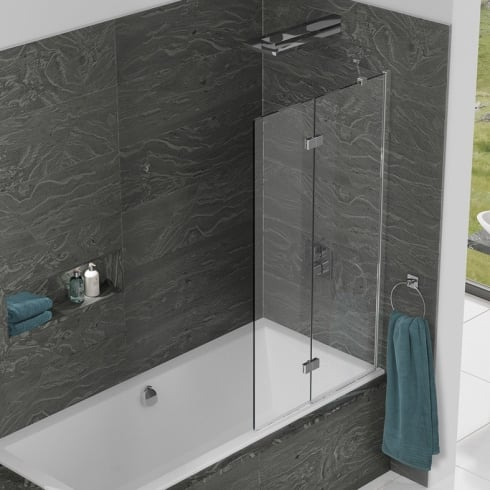 Kudos Inspire - Two Panel In-Fold Bathscreen 1500mm x 875mm