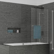 Inspire - Two Panel Out-Swing Bathscreen 1500mm x 950mm