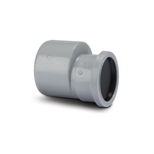 """Polypipe 110mm/4"""" to 82mm Soil Reducer Grey SD34G"""