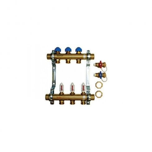 Polypipe 16/18mm Brass Compression Manifold