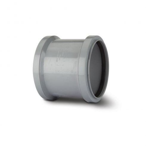 "Polypipe Soil Double Socket Grey 4"" SH44G"