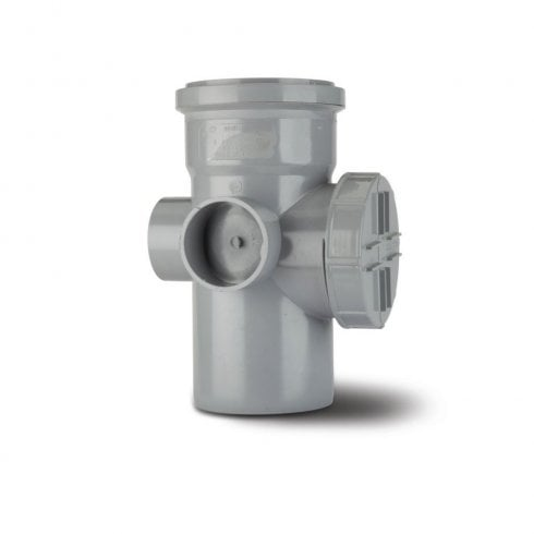 "Polypipe Soil Single Socket Access Pipe 4"" Grey SA43G"