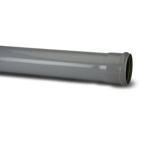 "Polypipe Soil Single Socket Pipe 4"" 3M Grey SP430G"