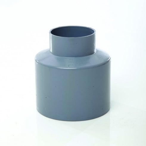 "Polypipe Soil Waste Connector Reducer 4"" Grey SO65G"