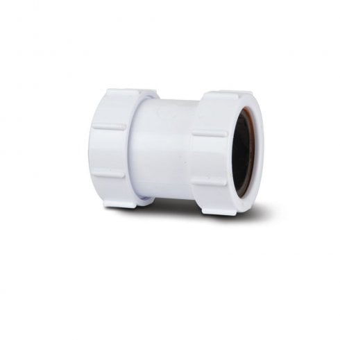 Polypipe Straight Universal Connector White - PS32W / PS40W