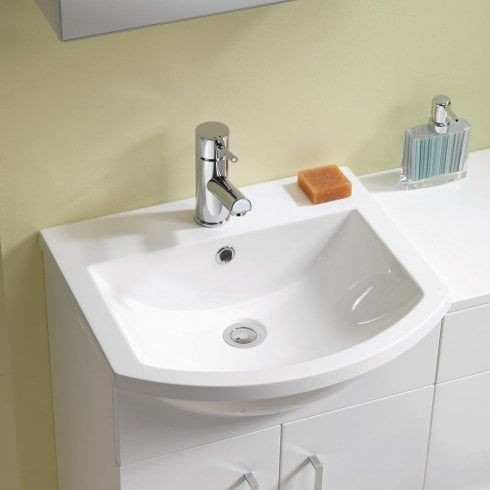 Q-Line Curved Resin Basin