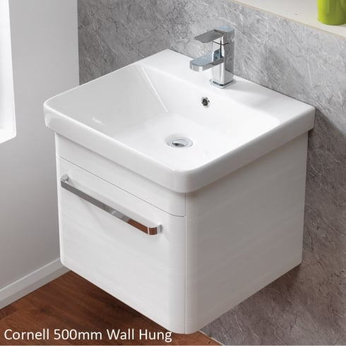 Qualitex - Ascent Furniture Cornell 500mm Wall-Hung Base Unit & Basin