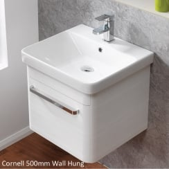 Cornell 500mm Wall-Hung Base Unit & Basin