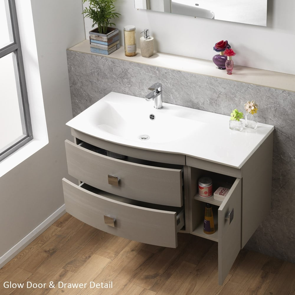 Glow Furniture Qualitex Ascent Furniture Glow Wall Hung Base Unit Basin