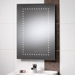 Atlanta 500 x 700mm Mirror with LED Lights & Rear Anti-Mist Pad
