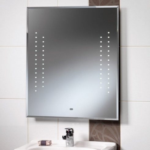 Qualitex - Ascent Mirrors Duchess 600 x 700mm Mirror with LED Lights & Rear Anti-Mist Pad