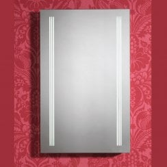 Virginia 500 x 800mm Mirror with LED Light Strips, Anti-Mist Pad & Sensor Switch