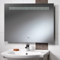 Western 800 x 600mm Mirror with LED Lights, Shaver Socket & Rear Anti-Mist Pad