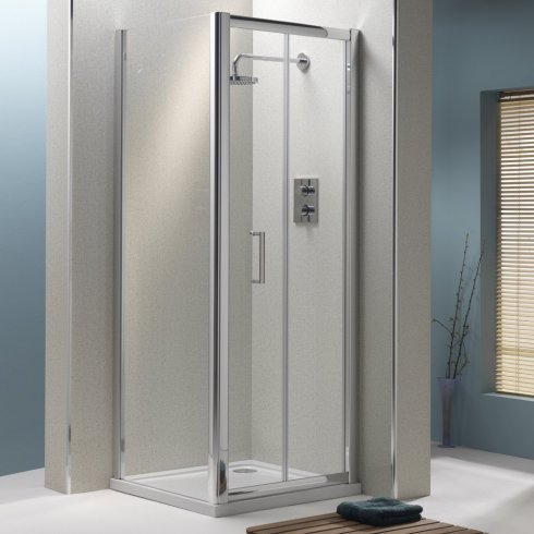 Qualitex - Ascent Showering 6mm Bifold Door with Easy-Clean Glass