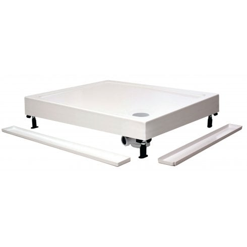 Qualitex - Ascent Showering ASCENT LEG & PANEL KIT FOR UP TO 2000x900 TRAYS
