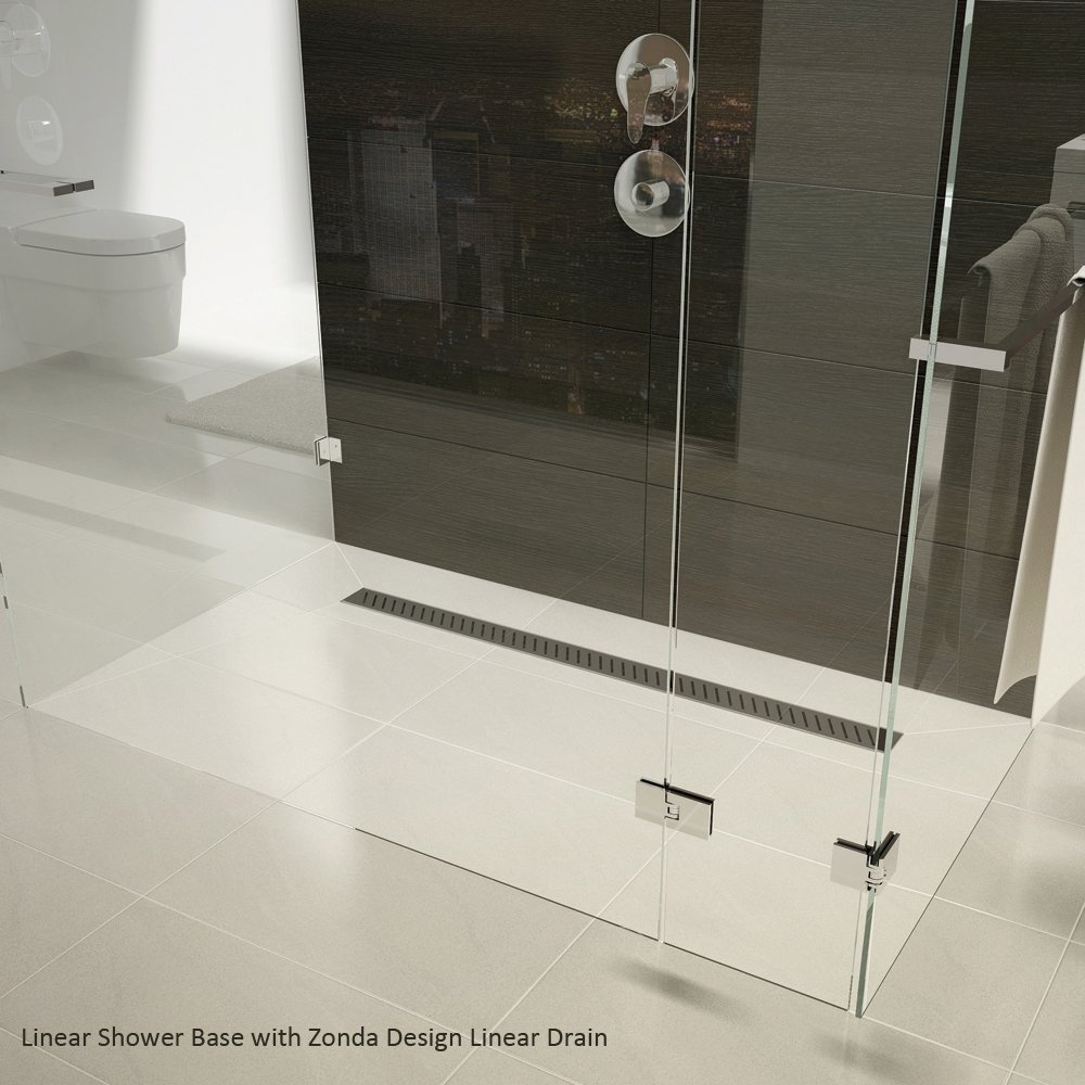 Qualitex ascent showering linear drain wetroom shower for Wet room drain
