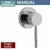 Minimalist Manual Shower Valve - 1 Outlet (controls 1 function)