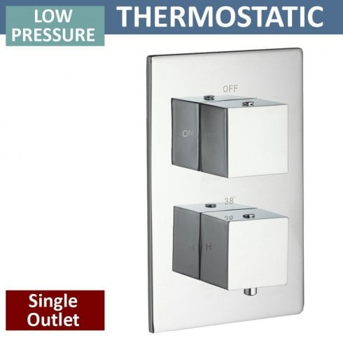 Qualitex - Ascent Showering Nevada Twin Thermostatic Shower Valve with 1 Outlet (controls 1 function)