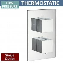Nevada Twin Thermostatic Shower Valve with 1 Outlet (controls 1 function)