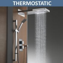 Rainfall Shower Head, Slider Kit & Valve