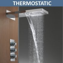 Rainfall & Waterfall Shower Head & Valve