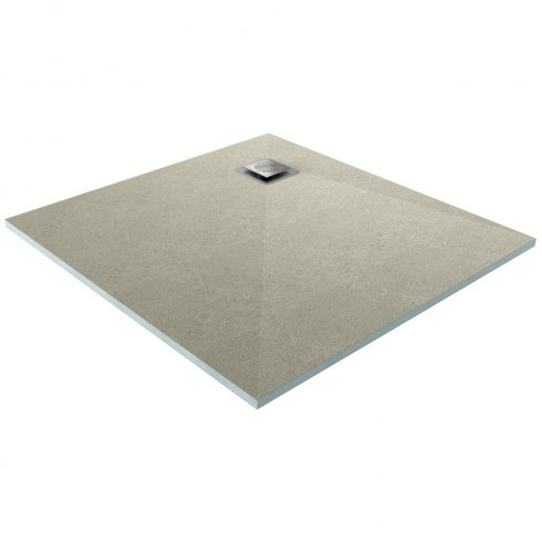 Qualitex - Ascent Showering Square Drain Wetroom Shower Base