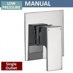 Square Manual Shower Valve - 1 Outlet (controls 1 function)