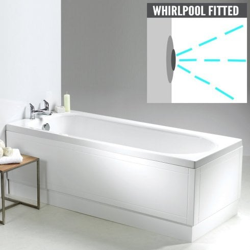 Qualitex - Ascent Superspec Ebony Bath with Option 1 Whirlpool