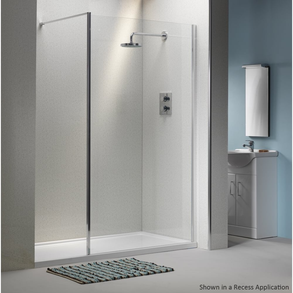 Qualitex Classic 6mm Shower Wall With Easy Clean Glass Qualitex
