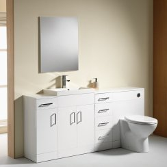 Eden 1800mm Base Unit, WC Unit, Single Base & 4-Drawer Combination - 350mm Depth