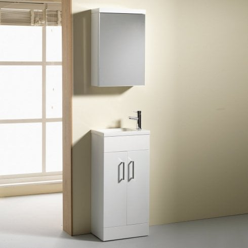 Qualitex - Genesis Eden 400mm Base Unit & Basin - 250mm Depth (can also be used with WC Unit)