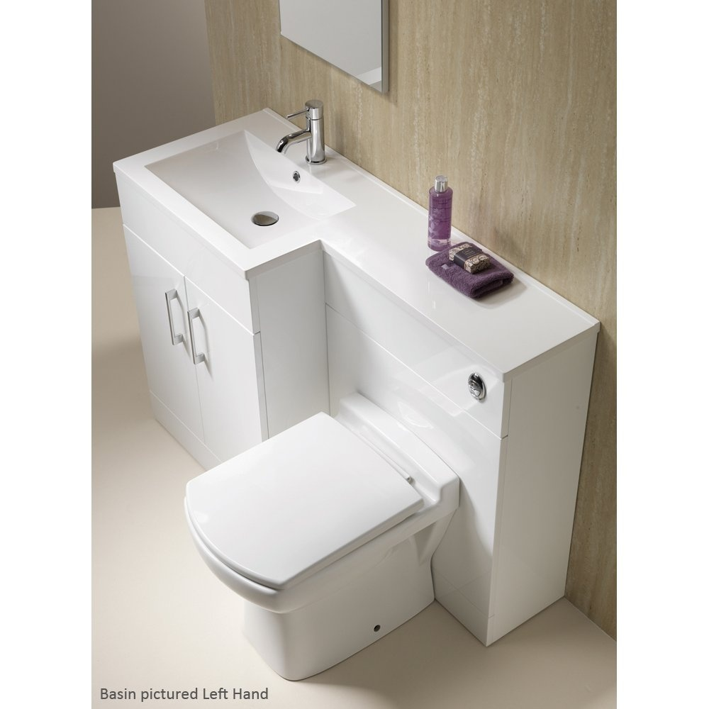 Sink And Toilet Combo Qualitex Genesis Monica 1000mm 1200mm 1 Piece Combinations