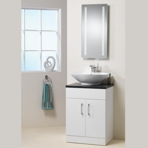 Qualitex - Genesis Monica 600mm Base Unit, Top & Basin