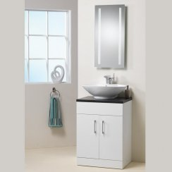 Monica 600mm Base Unit, Top & Basin