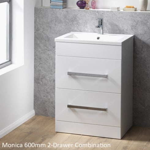 Qualitex - Genesis Monica 600mm Floorstanding Unit with 2 Drawers