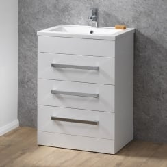 Monica 600mm Floorstanding Unit with 3 Drawers